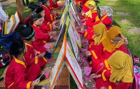 Tim Security SD Muhada Kota Langsa Amankan Sabtu Gembira Siswa Talenta 1