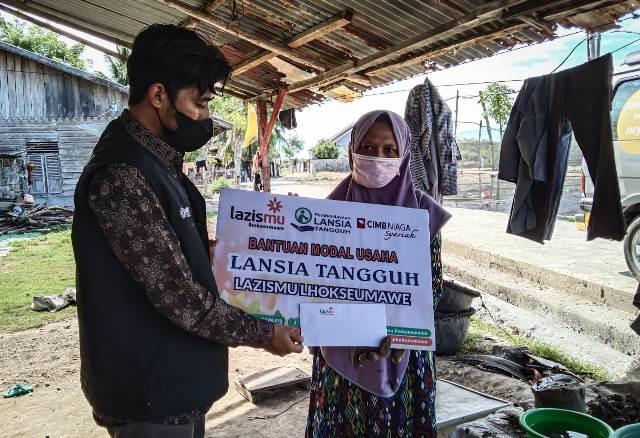 Lazismu Lhokseumawe Aceh Beri Modal Usaha Lansia Produktif ...