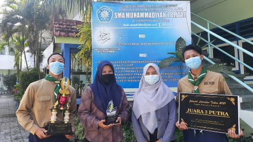 Tim Hizbul Wathan SMA Muhammadiyah Kota Blitar Juara Jelajah Literasi Bakorwil V 1
